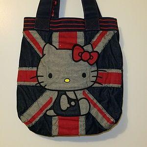 Large reversible Hello Kitty tote bag, denim